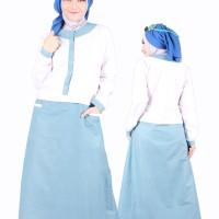 Gamis CHIRARI Blue, Size S M L XL. JEEHANA, Murah Berkualitas