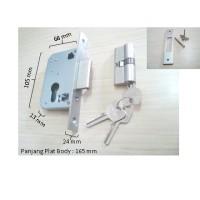 Body Kunci Pintu Sliding / Pintu Geser Omge LCM-3814