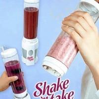 Blender Gelas 2 Tabung Juicer (shake and take go, alat pembuat jus)