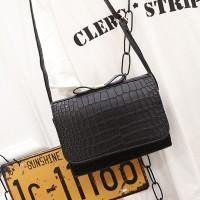 Harga tas pita korea motif buaya korean bow crocodile shoulder bag | antitipu.com