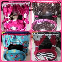 harga 1 Paket Tirai Kandang Kucing Anjing Uk90+kasur Bantal Tokopedia.com