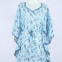 harga Blouse Kalong Chiffon / Baju Atasan Kelelawar Model Batwing K17 Blue Tokopedia.com