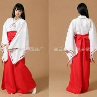 yukata kimono kostum kikio kikyo inuyasha