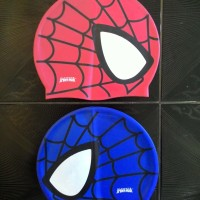 topi renang penutup kepala swim cap swimming spiderman