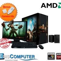 PC Komputer rakitan Gaming Amd Medium Fullset - Paket D
