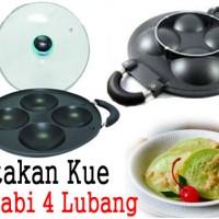 cetakan kue / surabi - HAPPYCALL - 4 cup cake maker + Buku Resep