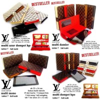DOMPET LV KULIT HPO CASE TABLET 7 UP TO 8 INCI MULTIFUNGSI