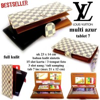 DOMPET LV KULIT HPO CASE TABLET 7 UP TO 8 INCI MULTI FUNGSI AZUR Cok