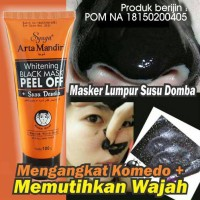 Masker Lumpur Susu Domba / Whitening Black Mask Peel Off Susu Domba