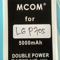 Baterai Battery Double Dobel Power LG P705 Optimus L7 P700 Mcom 5000Ma