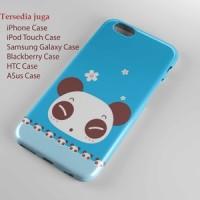 cute blue panda wallpaper Hard case Iphone case dan semua hp