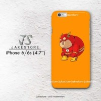 flash fat superhero iPhone Hard Case 4 4s 5 5s 5c 6 6s Plus Cover