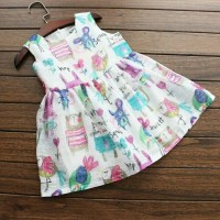 harga Baju Dress Anak Import Chiffon Animal Printing Tokopedia.com