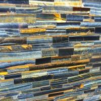 Blue Gold Tiger Eye Semi Precious Stone Slab Marble Granite Batu Impor