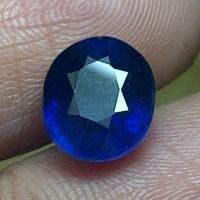 Batu Permata Royal Blue Safir + Memo