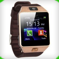 Jual Smartwatch DZ09 U9 Support Simcard and Memory Card - GOLD BROWN Murah