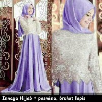 harga Innaya Set Hijab Maxi Gamis Bergo Syari Kaftan Busana Muslim Tokopedia.com