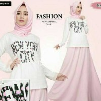 harga set new york/rok+baju+jilbab/setelan muslim/set hijab/dress murah Tokopedia.com