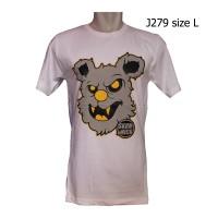 J279 Kaos Putih Keren, Kaos Gambar Koala,kaos Gambar Beruang