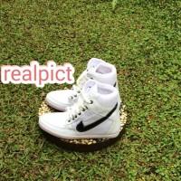 harga sneakers wedges NK white Tokopedia.com