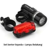 lampu senter sepeda depan+ belakang power beam