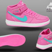 Sepatu Nike Air Force One Pink Womens Life Style Sporty Jogging