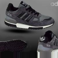 Sepatu Adidas ZX 750 Grey Lis Black Pria Sporty Lari Fitnes / Gym