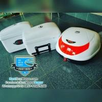harga Paket Lengkap Box Motor Kmi 502 Putih Lampu Dan Sidebox Tokopedia.com