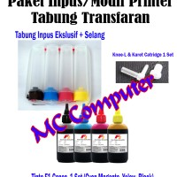 Tabung Infus/Modif Transfaran Printer Canon Plus Tinta 4 warna @100ml