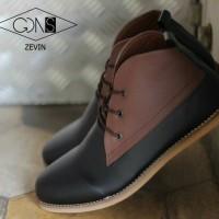 Sepatu Goodness Zevin Casual Black Brown