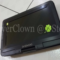 DVD Portable Daewoo 13.9inch - DVD / Mp3 / USB Movie / TV - Gojek COD