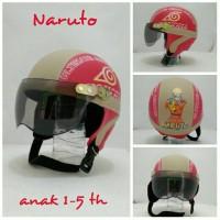 Helm Anak Chip Retro Klasik Naruto Merah Crem