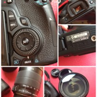 Canon EOS 60D Body Only + 3 Lensa 99% Like New!