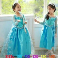 Jual Kostum Elsa Frozen, Dress Baju Pesta Import Gaun Ulang Tahun Murah