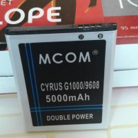 baterai cyrus G1000 glory TBT-9608 double power merk mcom