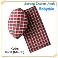 Babymix Sarung Instan dan Peci - Mix18 (Merah)