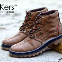 KICKERS MONSTER PRIA COKLAT MADE IN FRANCE 100% BOOTS SAFETY (Besi)