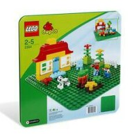 LEGO Duplo # 2304 Large Building Base Plate Green Baseplate Big Hijau