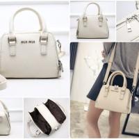 Tas wanita import handbags cantik elegan 21424 Rice White