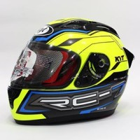 Helm KYT RC 7 Seven RC7 Full Face Black Yellow Fluo