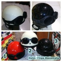 Helm retro Chips Kupingan New Cream