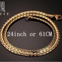 Harga new kalung titanium unik pria wanita stainless steel gold | Pembandingharga.com