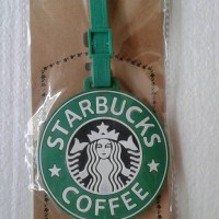 luggage tag/gantungan/label nama koper/tas gambar starbucks coffee