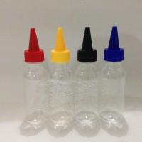 Botol 100ml Lancip/Kerucut Pet/Bening - Quantity 100 Pcs