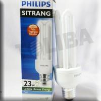 lampu philips sitrang 23w 23 watt 23 w putih nyala pd tegangan rendah