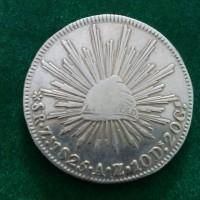 Jual koin perak silver coin meksiko 8 R 1825 # kode 210 Murah