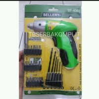 Bor Obeng Listrik Portable 26pcs Bor Tanpa Kabel Sellery USA