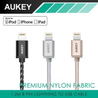 Jual Aukey 3.3ft (1.2m) Lightning to USB Cable 8 Pin Sync Cables Murah
