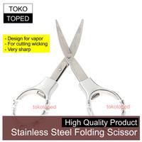 Stainless Steel Folding Scissor for Vapor   vaporizer kanthal cotton