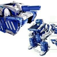 solar robot kit diy tenaga surya cell mainan anak laki mobil tank